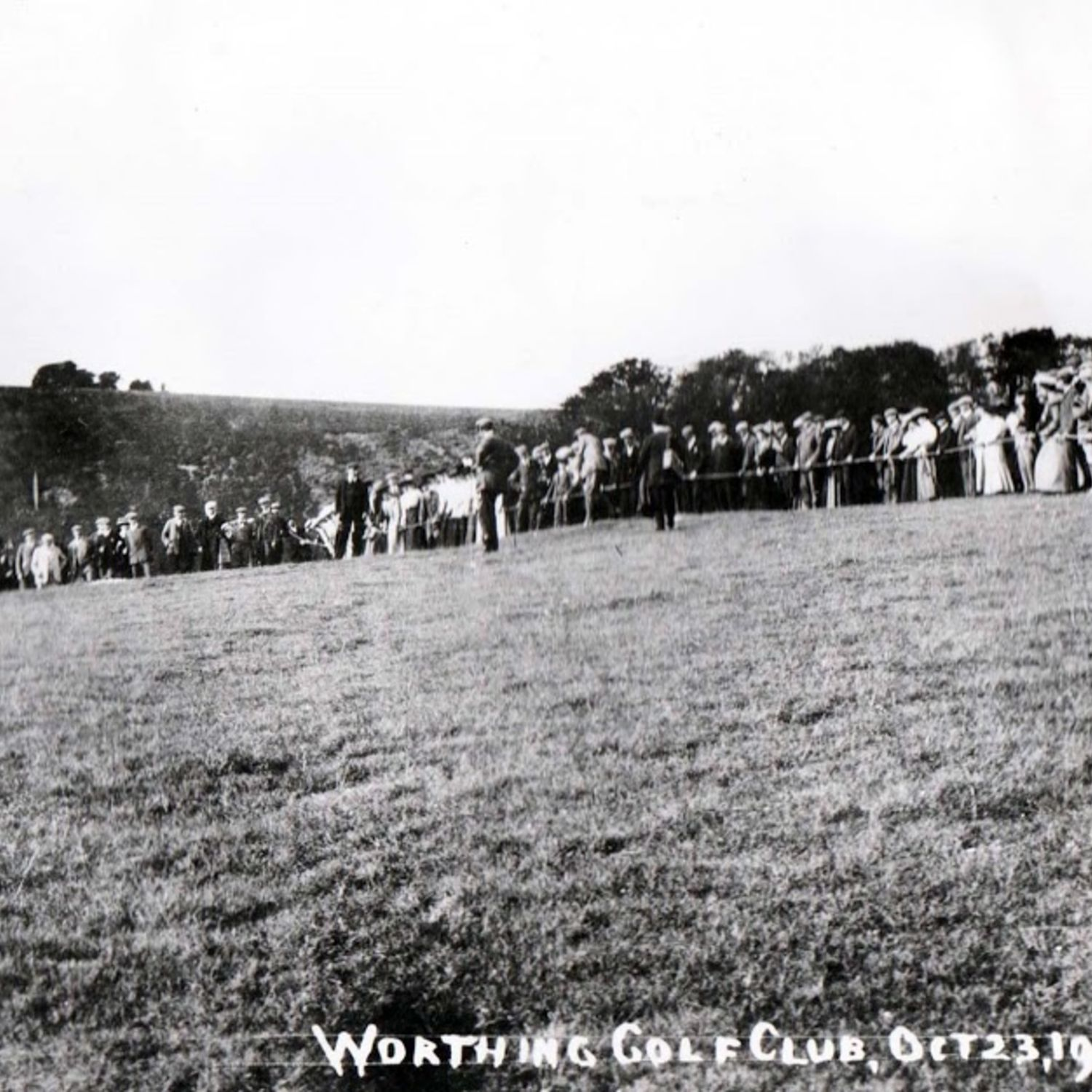 The 36 hole exhibition match was well supported on 23rd October 1906.