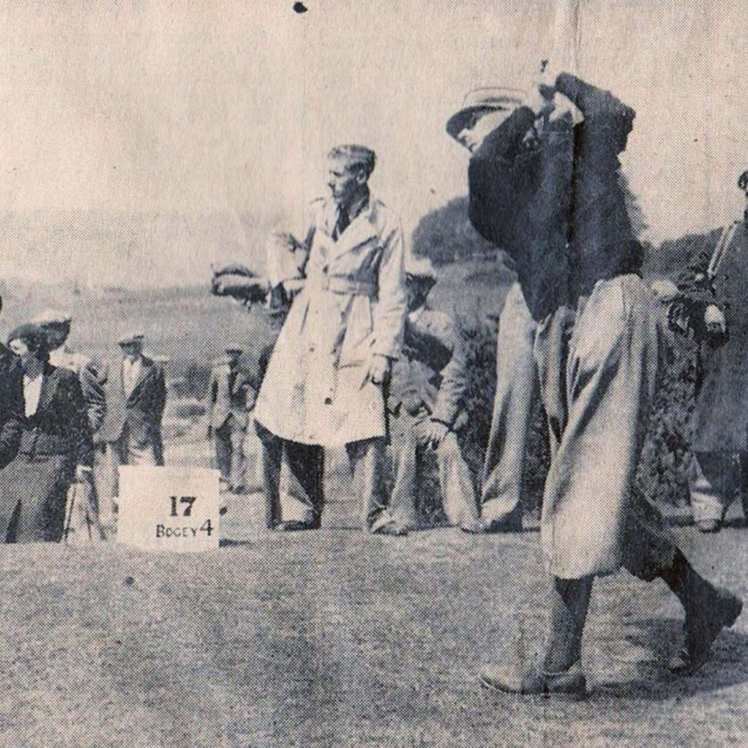 1938 L.A. Green driving at the 17th in the final of the Sussex Amateur Golf Championship at Worthing