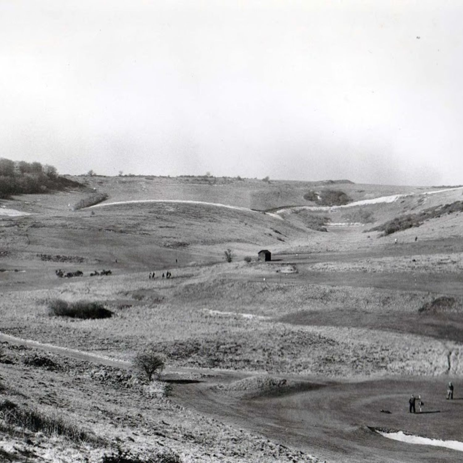 1948. The 6th green lower. The 8th on the left with the Himalaya bunkers. Centre right, the war time