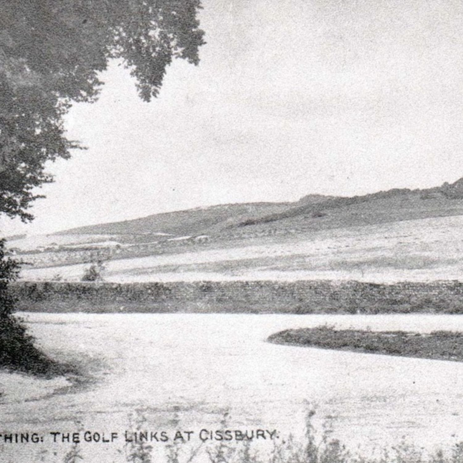 Old postcard titled Worthing. The Golf Links at Cissbury. c1905.