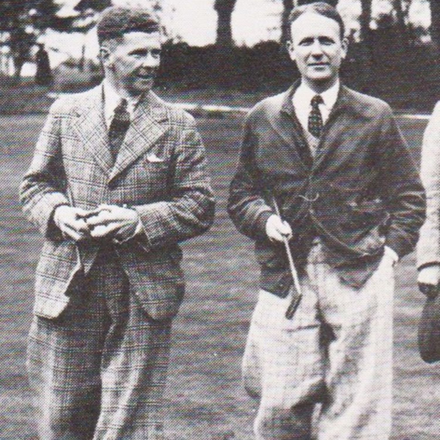 Harold Matthews, left, Club Captain in 1928-1929 played against J.L. Hough in the Captains Prize fin